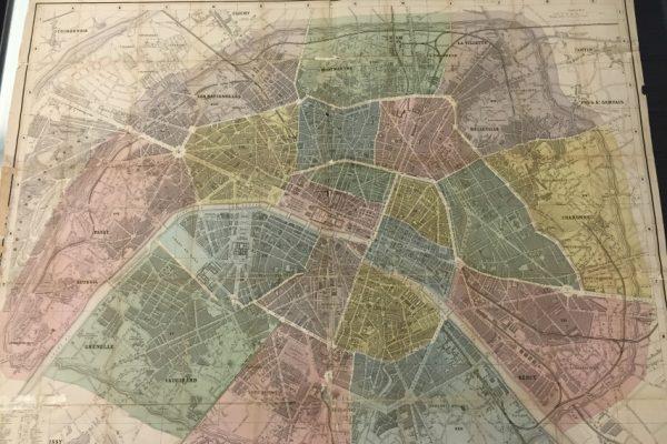 Nouveau Plan de Paris Divisé en Vingt Arrondissements