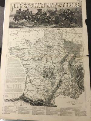 Harper's War Map of France