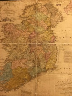 A new and accurate map of the kingdom of Ireland divided into provinces, counties & baronies…