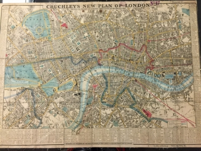 Cruchley's New Plan of London Shewing All the New and Intended Improvements to the Present Time