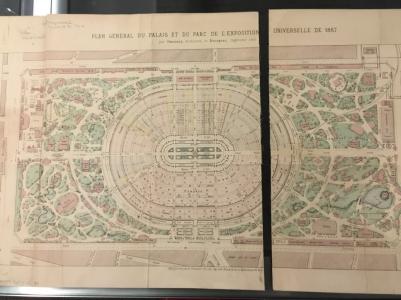 Plan Général du Palais et du Parc de l'Exposition Universelle de 1867