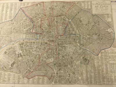 Plan de la Ville et Faubourgs de Paris, Divisé en 12 Mairies