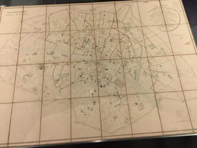 Carte Statistique de la Distribution des Eaux de l'Ourcq, dans la Ville de Paris…