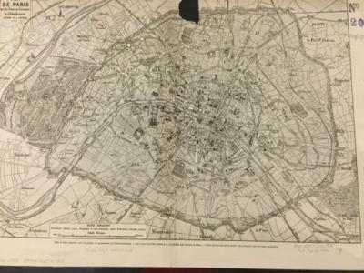 Plan de Paris avec les Projets de Percements, et d'Embellissements Exécutés et a Exécuter