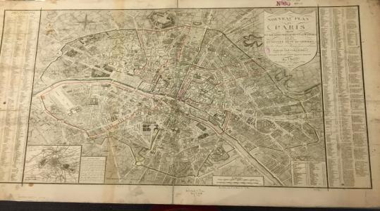 Nouveau Plan de Paris Divisé en XII Arrondissemens ou Mairies et en Quarante Huit Quartiers…