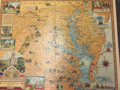 A descriptive map of the region within one hundred miles of the capital of the United States…