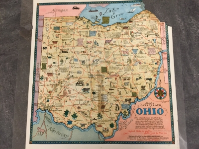 Being a cartograph of Ohio the oldest state west of the thirteen original colonies…