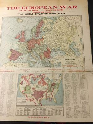 Cram's European War Map
