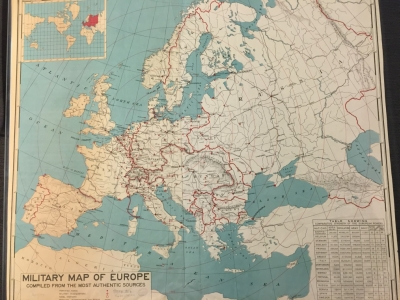 Military Map of Europe Compiled from the Most Authentic Sources
