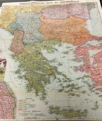 Politisch-Militärische Karte der Balkan-Halbinsel…