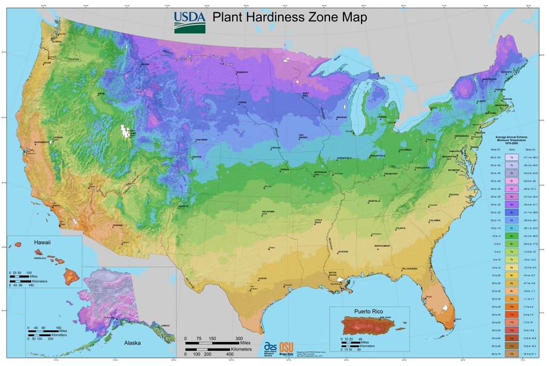 Agricultural Research Service U S Department Of Agriculture Usda Plant Hardiness Zone Map 2012 Accessed From Http Planthardiness Ars Usda Gov