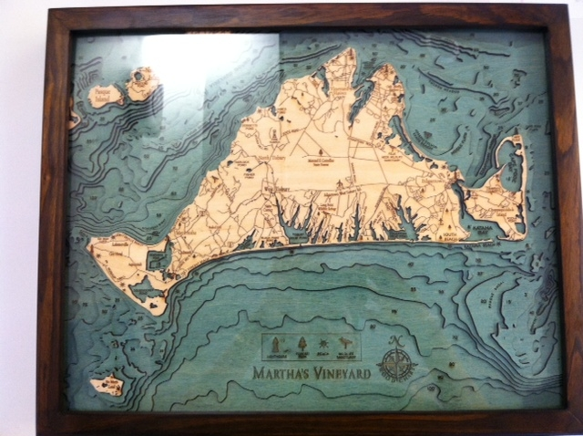Vineyard relief map