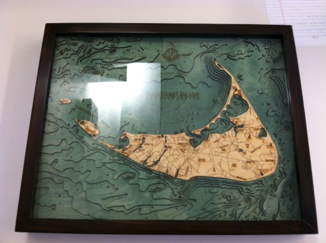 Nantucket relief map